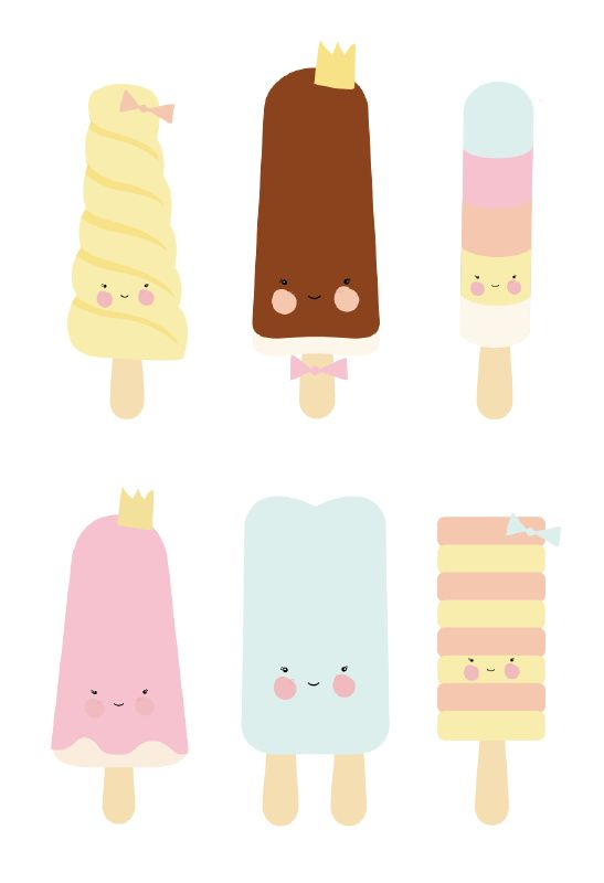547x800 927 Best Popsicles Illustrations Images Ice