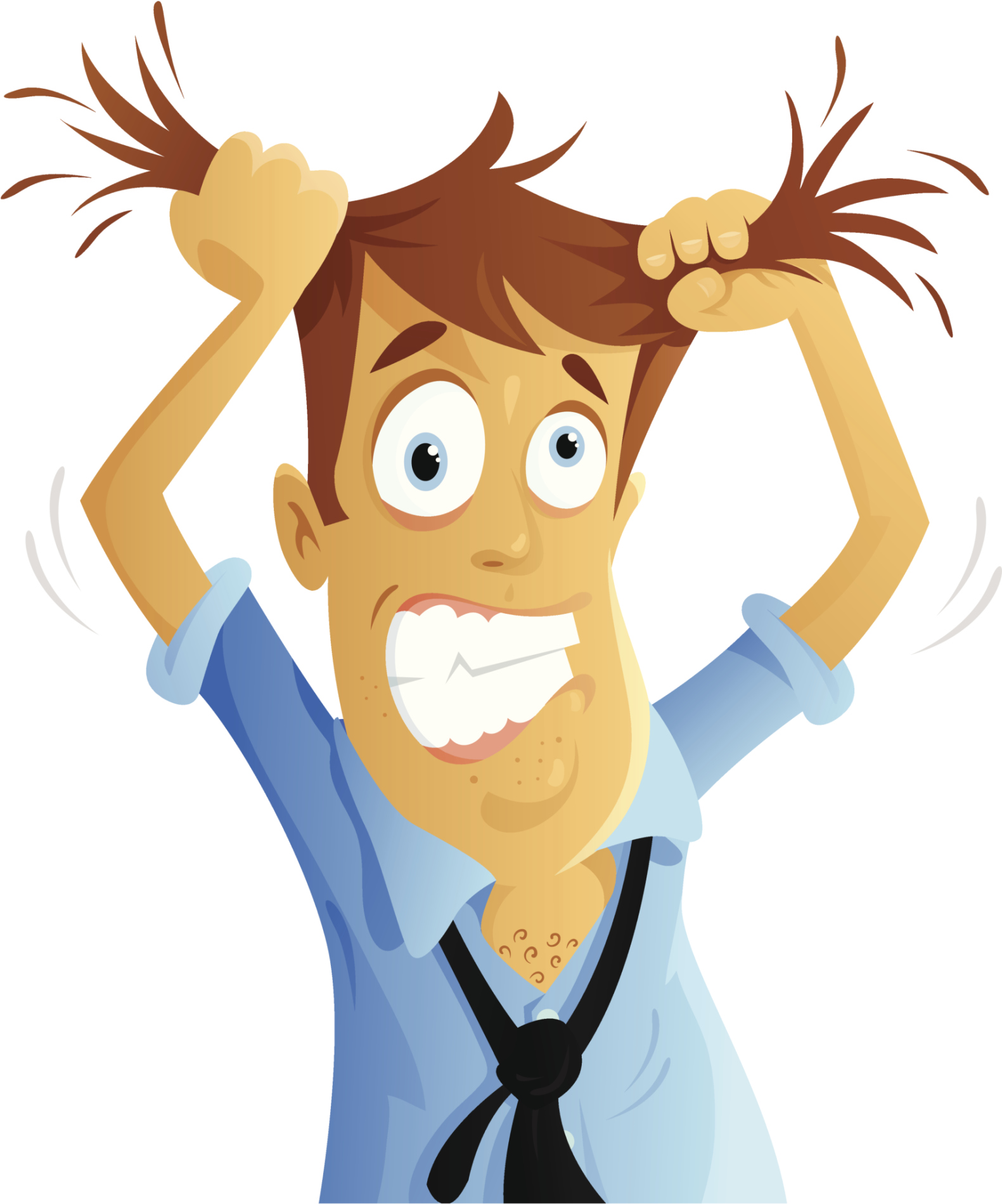 1581x1899 Clipart Person Pulling Their Hair Out