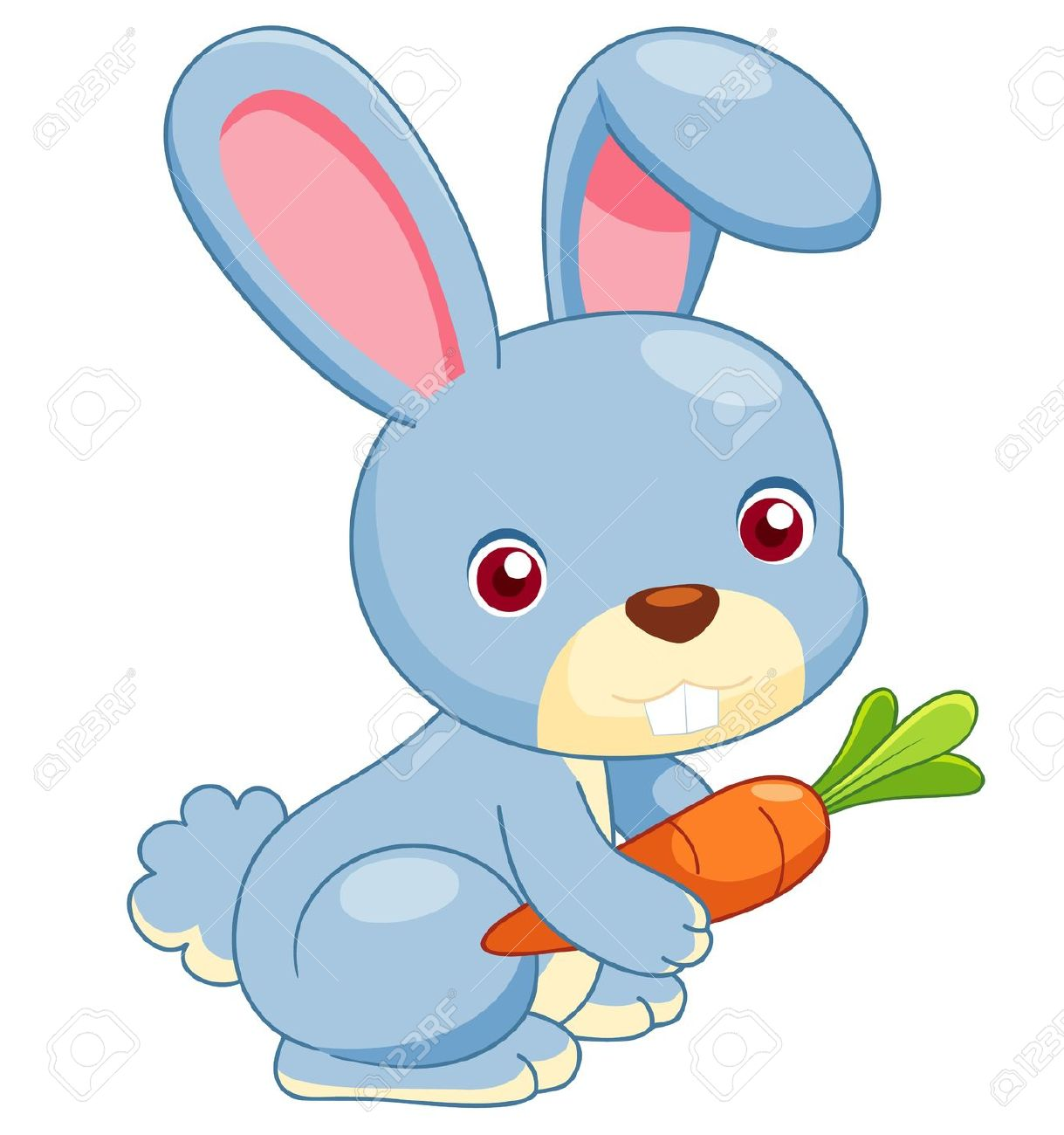 1219x1300 Cartoon Rabbit Image Kids Coloring