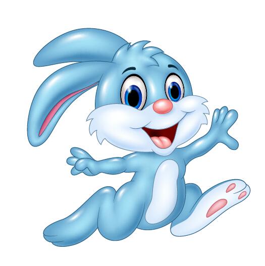 525x527 Cute cartoon rabbit vector design 02