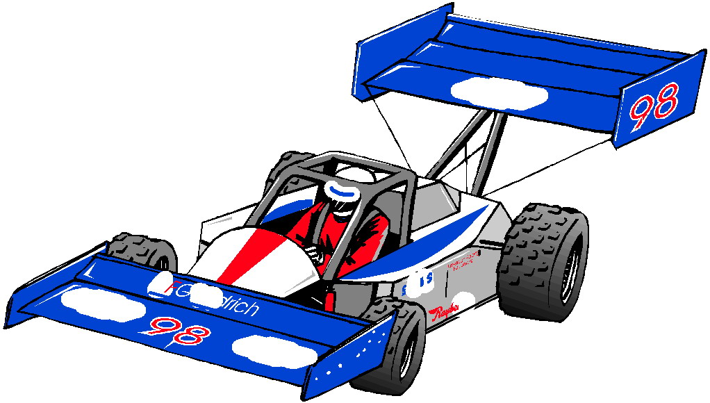 Cartoon Race Car Clipart