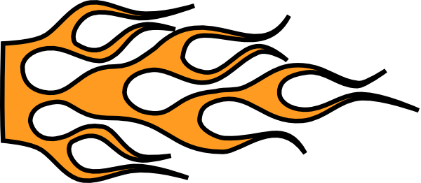 600x262 Racing Flame Car Clip Art