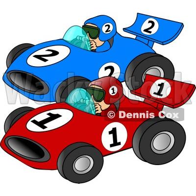 400x400 Cartoon Race Car Clipart