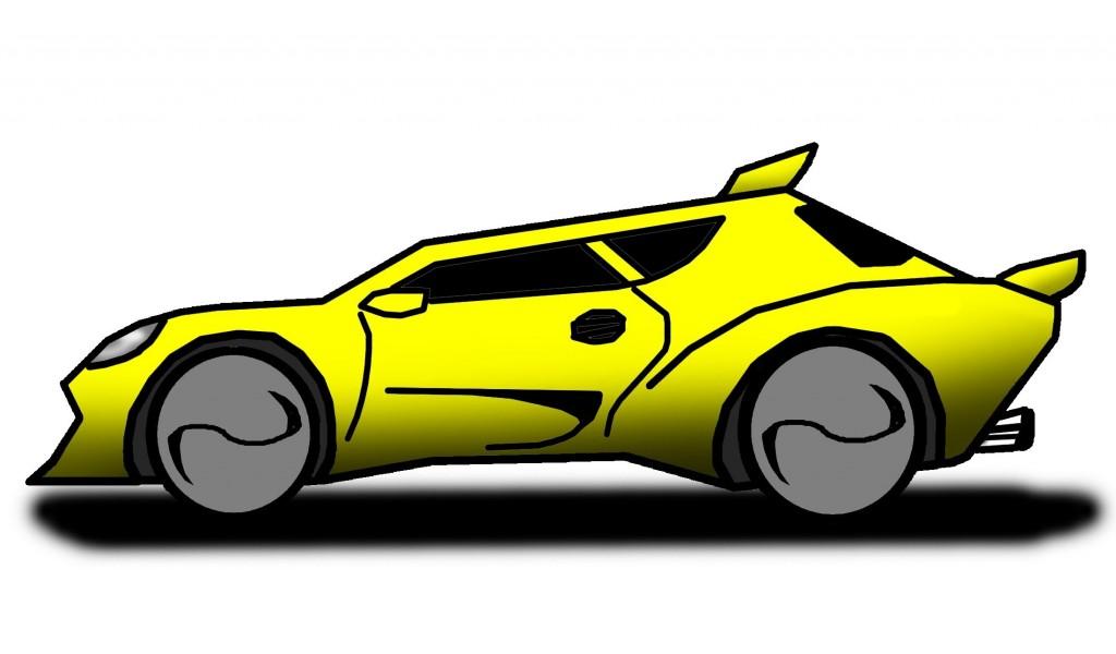 1024x600 Cartoon Race Car Group