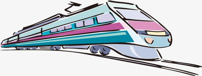 650x244 Modern Train, Hand Painted Cartoon, Modern Png Image For Free Download