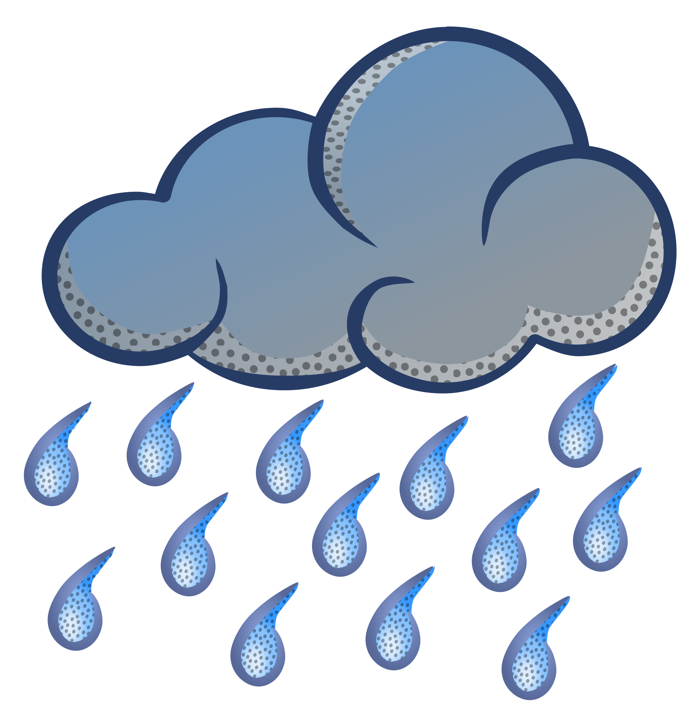 Cartoon Rain Cloud Clipart