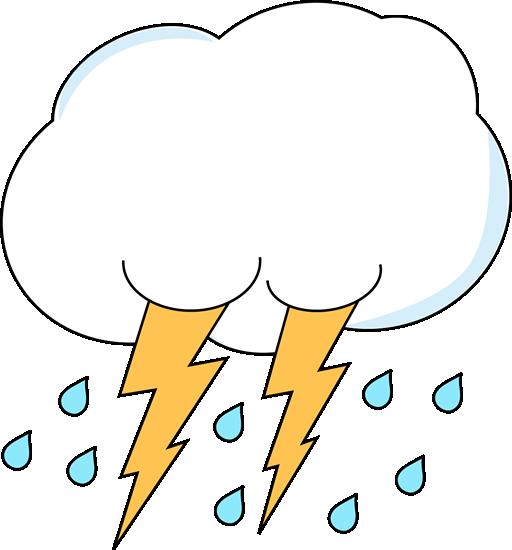 512x550 Lightning And Rain Cloud Clip Art