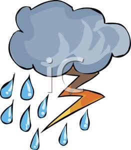 262x300 Art Image A Lightning Bold In A Rain Cloud