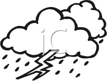 350x264 Thunder Clipart Rain Cloud