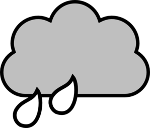 298x255 Black And White Rain Cloud Clip Art