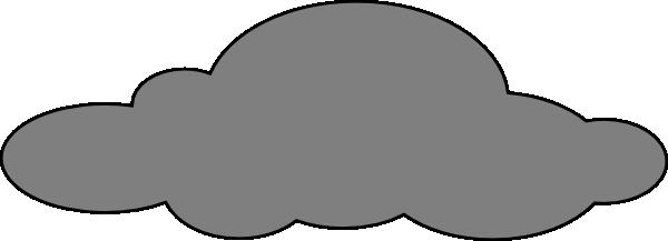 600x217 Grey Cloud Clip Art