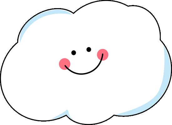 550x400 Happy Rain Cloud Clipart