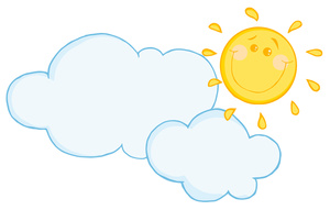 300x191 Partly Cloudy Clipart Image