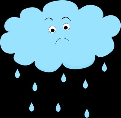 400x391 Sad Rain Cloud Clip Art Weather Rain, Cloud