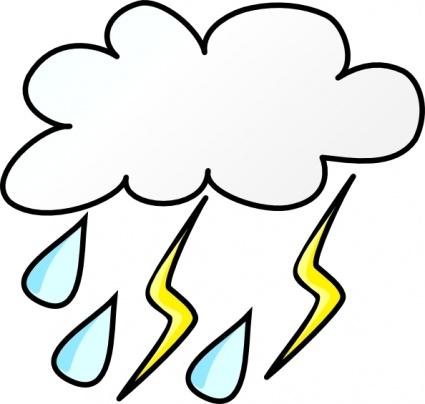 425x404 Cloud Cartoon Signs Symbols Clouds Lightning Weather Rain Storm