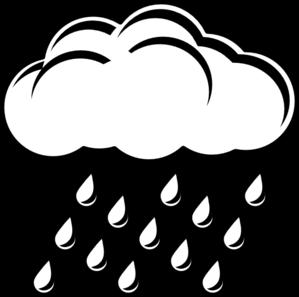 299x297 Cloud With Rain Outline Clip Art