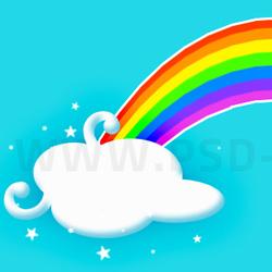 250x250 Creating A Cartoon Rainbow
