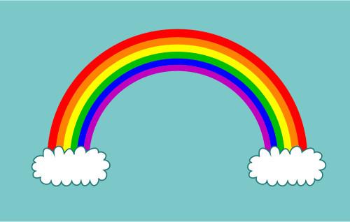 500x318 Drawing A Cartoon Rainbow