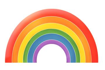 360x239 Funny Cartoon Rainbow