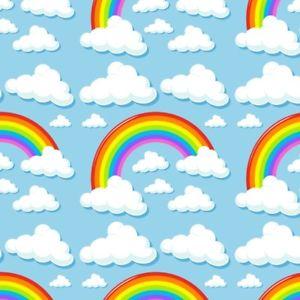 300x300 Rainbow Cloud Photo Backdrop Baby Photography Prop Cartoon