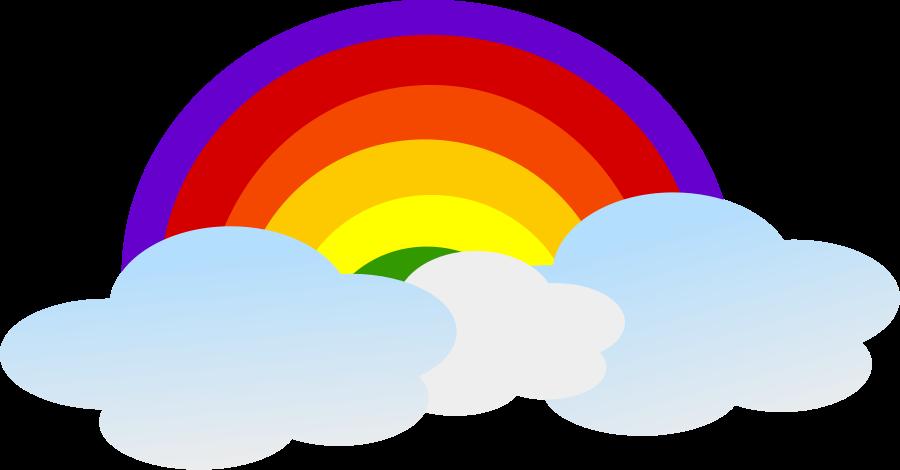 900x470 Rainbow Cartoon Design Png 900px Large Size