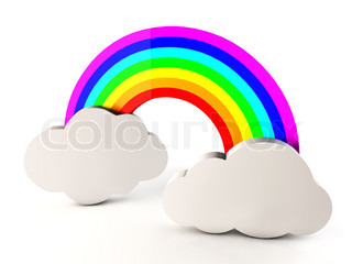 320x240 Rainbow With Clouds