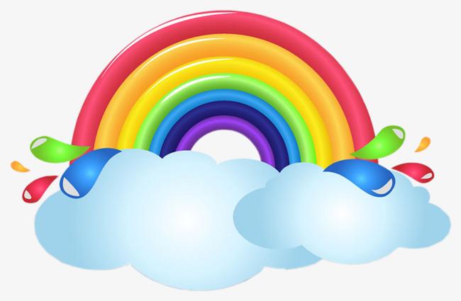 650x425 Cartoon Rainbow, Painting, Rainbow, Child Png And Psd File