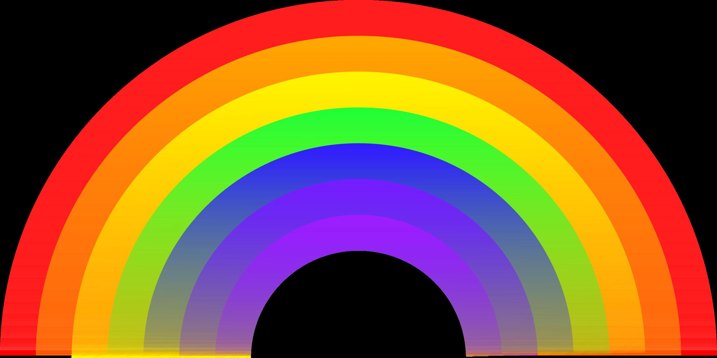 2400x1200 Cartoon Rainbow Clipart