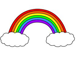 250x192 Cartoon Rainbow Step By Step Drawing Lesson