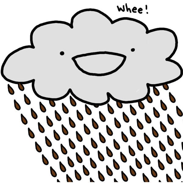 Cartoon Rainy Cloud