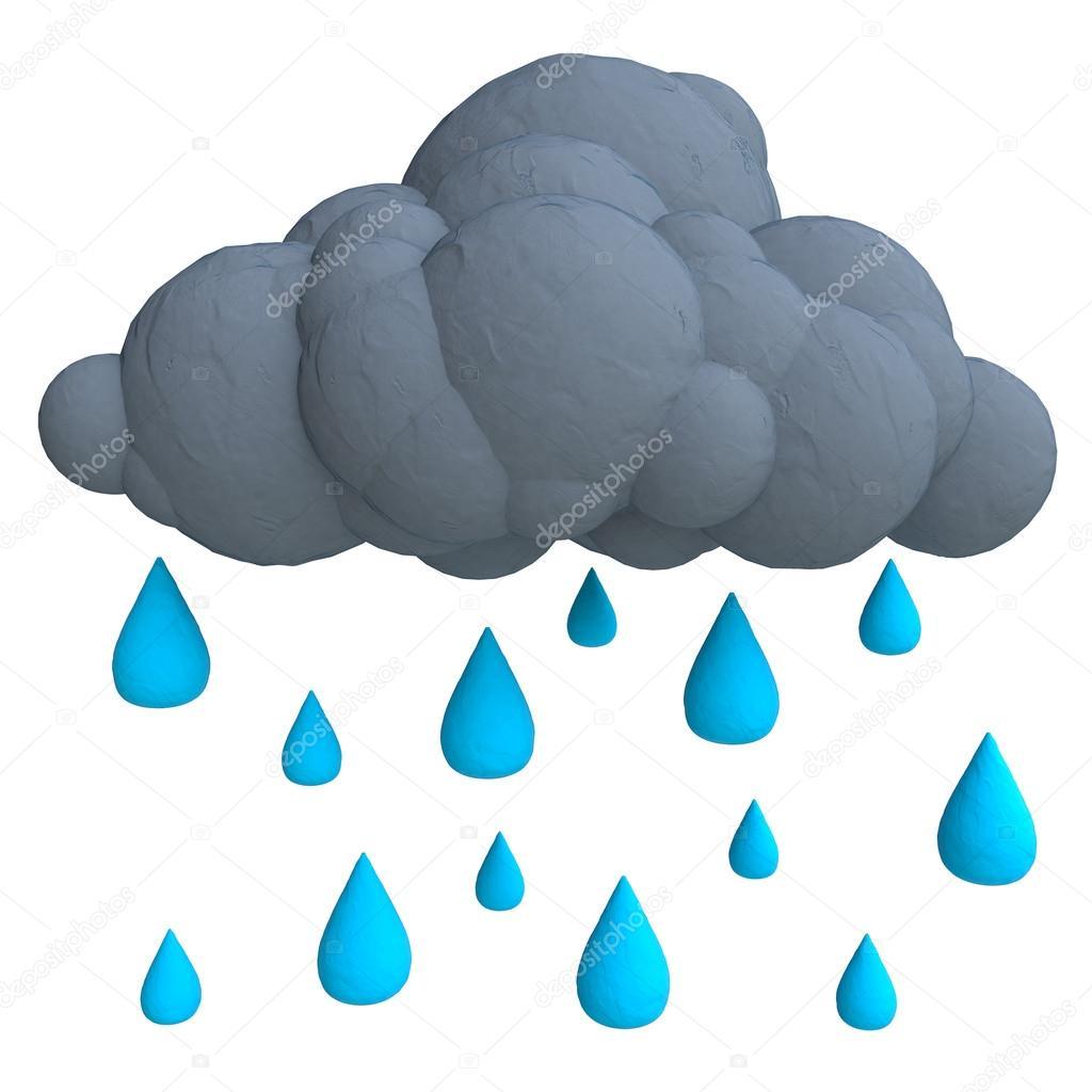 1024x1024 Cartoon Rain Cloud Stock Photo Vvvisual