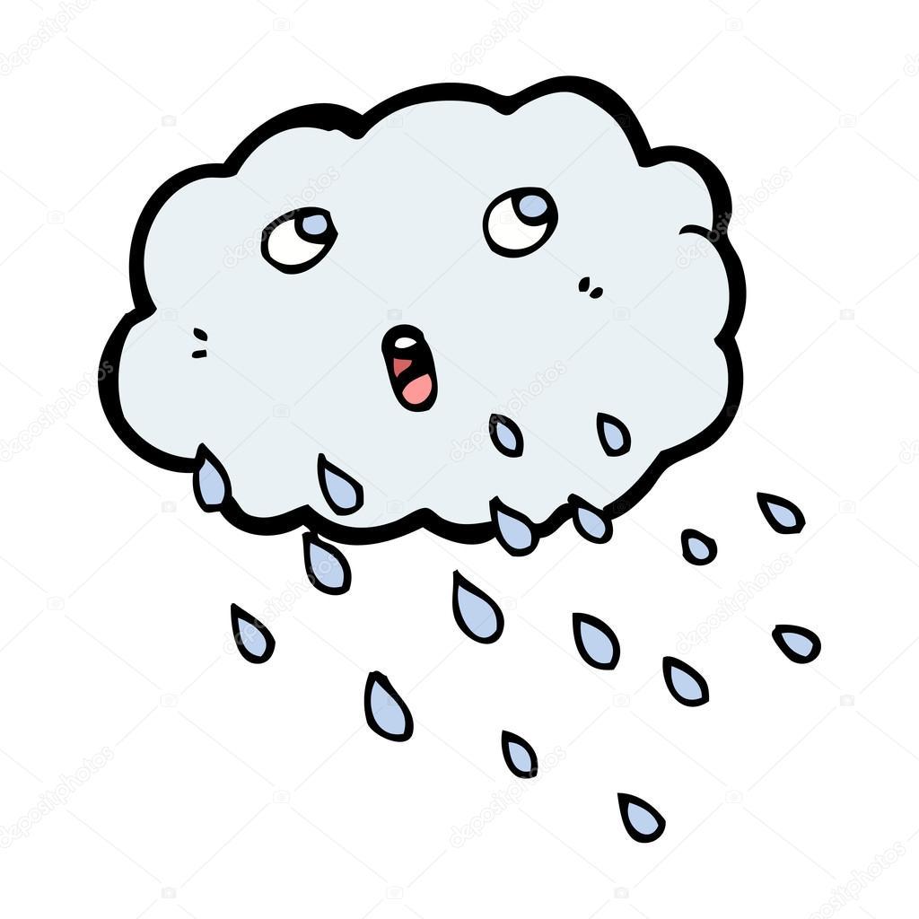 1024x1024 Cartoon Rain Cloud Stock Vector Lineartestpilot