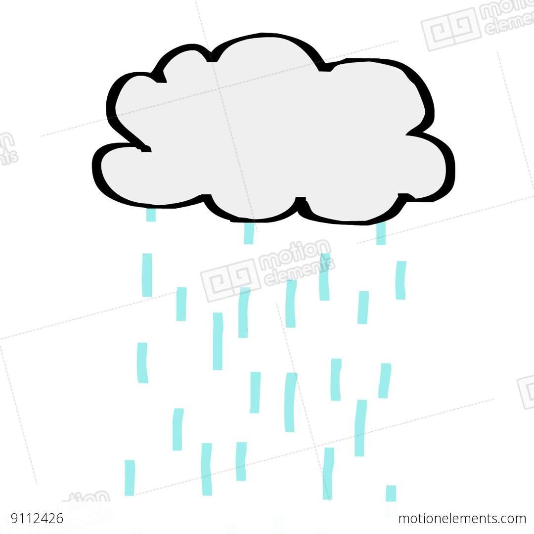 1080x1080 Cloud Rain Stock Animation 9112426