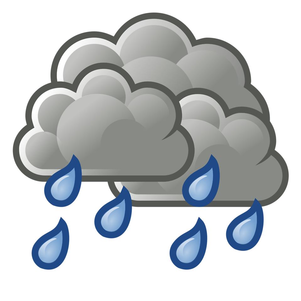 958x958 Dark Cloud Rainy Clipart