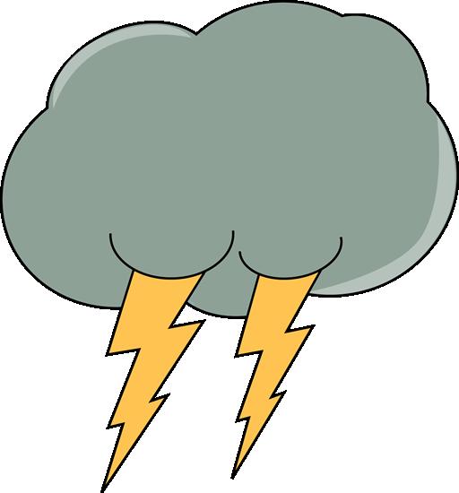 512x550 Gray Clipart Thunder Cloud