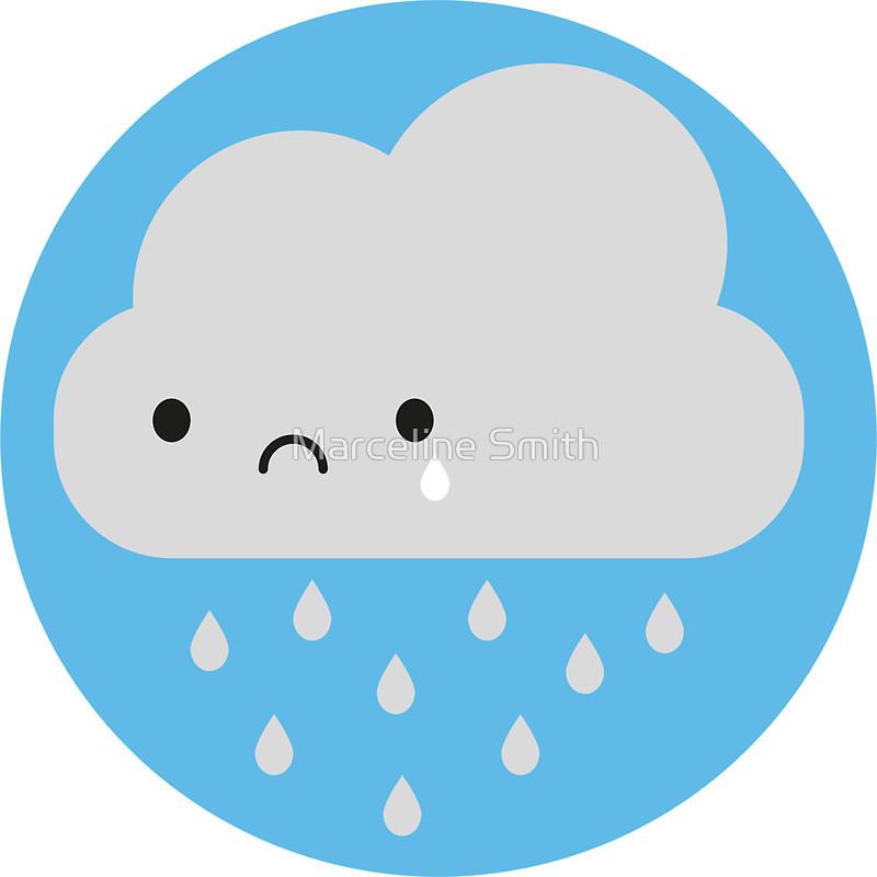 800x800 Sad Kawaii Rain Cloud Stickers By Marceline Smith Redbubble