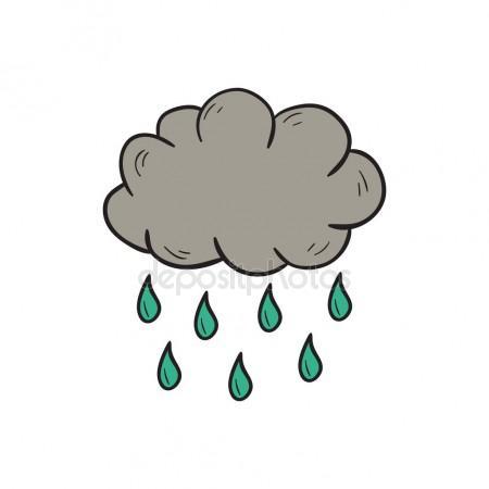 450x450 Vector Cartoon Hand Drawn Rain Cloud Stock Vector Petitelili