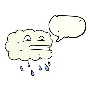 300x300 Freehand Drawn Cartoon Rain Cloud Royalty Free Stock Image