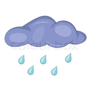 320x320 Beautiful Fun Cloud And Summer Rain Vector Illustration Stock