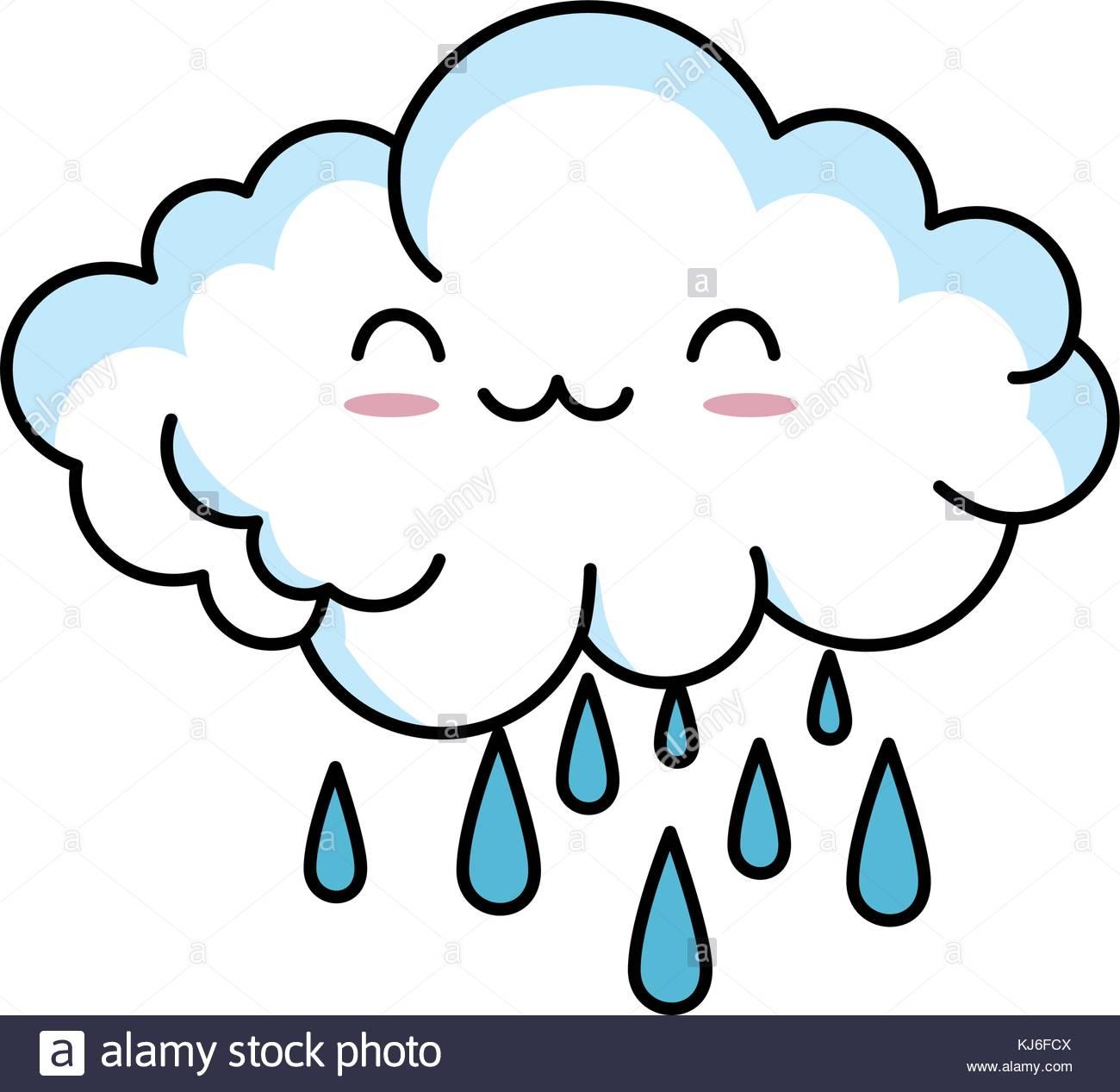 1300x1267 Cartoon Happy Rain Cloud Stock Photos Amp Cartoon Happy Rain Cloud