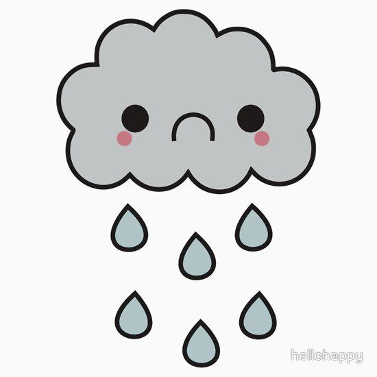 550x550 Cartoon Sad Rain Cloud