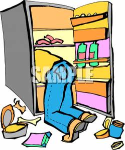 Cartoon Refrigerator Clipart