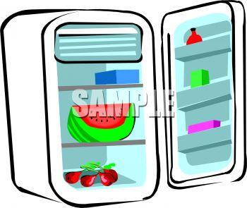 350x295 Watermelon In A Refrigerator