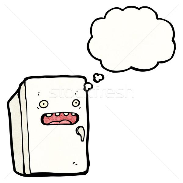 600x600 Cartoon Refrigerator Vector Illustration Lineartestpilot