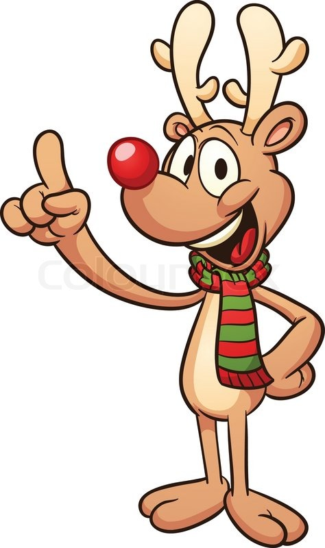 474x800 Cute Cartoon Christmas Reindeer. Vector Clip Art Illustration
