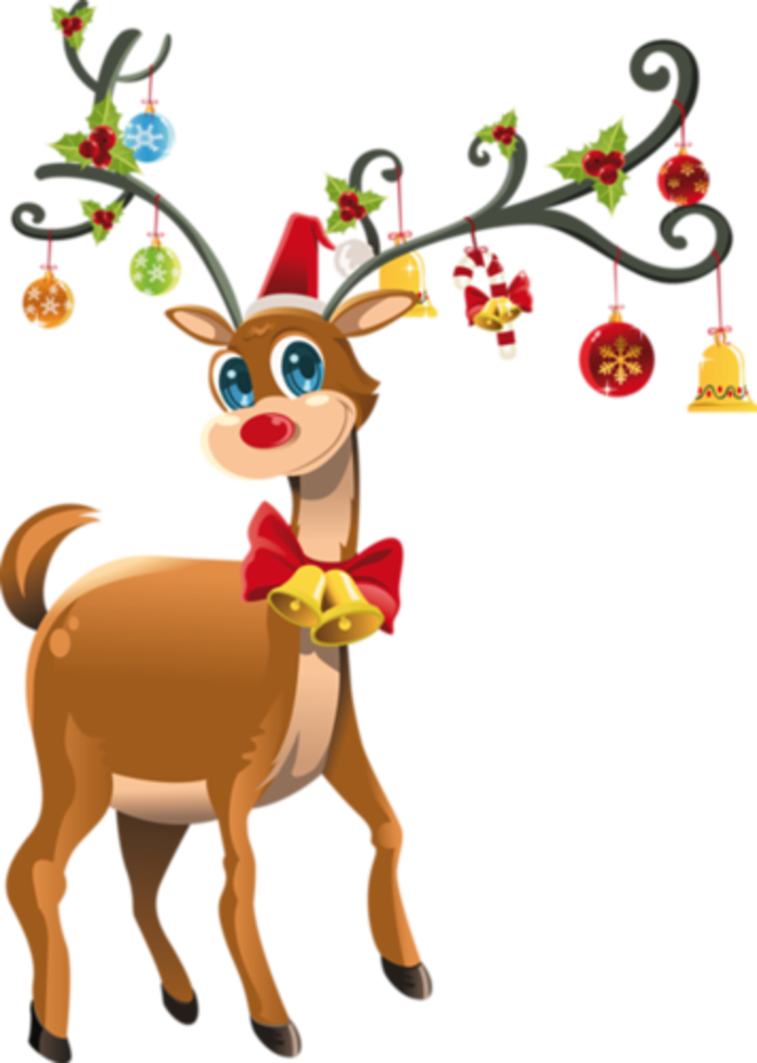 698x980 A Christmas Reindeer Clip Art, Merry And Holidays