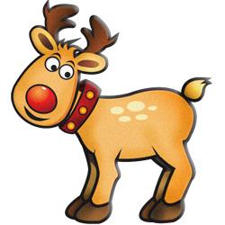 250x250 Reindeer Clip Art