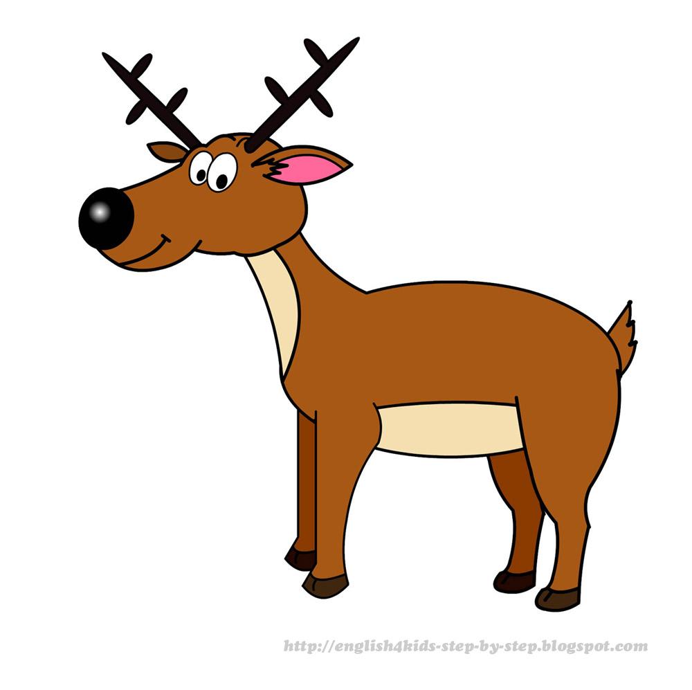 1000x997 Brown Clipart Reindeer