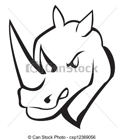 417x470 Rhino Clipart Rhino Head