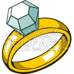 300x300 Engagement Ring Cartoon Clip Art 2 Pyrography